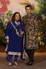 Karan Johar, Hiroo Johar at Sonam Kapoor and Anand Ahuja_s Wedding Reception on 8th May 2018 (175)_5af43fc004580.JPG