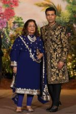 Karan Johar, Hiroo Johar at Sonam Kapoor and Anand Ahuja_s Wedding Reception on 8th May 2018 (176)_5af43fc1a1e51.JPG