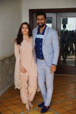 Alia Bhatt, Vicky Kaushal during media interactions for Raazi in Sun n Sand, juhu on 10th May 2018