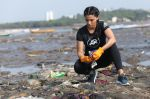 Saiyami Kher at the adidas beach clean up in versova jetty