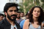 Harshvardhan Kapoor with Taapsee Pannu Riding Bike for the promotion of movie Bhavesh Joshi on 27th May 2018 (11)_5b0d19dbcf664.JPG