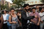 Harshvardhan Kapoor with Taapsee Pannu Riding Bike for the promotion of movie Bhavesh Joshi on 27th May 2018 (16)_5b0d199f5ef30.JPG