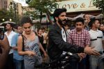 Harshvardhan Kapoor with Taapsee Pannu Riding Bike for the promotion of movie Bhavesh Joshi on 27th May 2018 (17)_5b0d19a2687da.JPG
