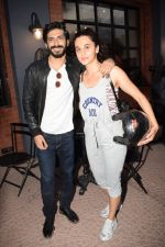 Harshvardhan Kapoor with Taapsee Pannu Riding Bike for the promotion of movie Bhavesh Joshi on 27th May 2018 (22)_5b0d191fa721c.JPG