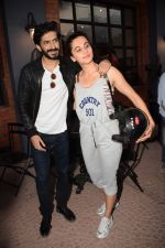 Harshvardhan Kapoor with Taapsee Pannu Riding Bike for the promotion of movie Bhavesh Joshi on 27th May 2018 (26)_5b0d192708b47.JPG