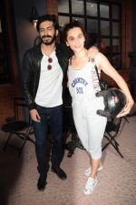 Harshvardhan Kapoor with Taapsee Pannu Riding Bike for the promotion of movie Bhavesh Joshi on 27th May 2018 (27)_5b0d19bc21ba7.JPG