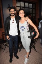 Harshvardhan Kapoor with Taapsee Pannu Riding Bike for the promotion of movie Bhavesh Joshi on 27th May 2018 (29)_5b0d19bf4b28d.JPG