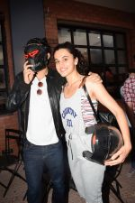 Harshvardhan Kapoor with Taapsee Pannu Riding Bike for the promotion of movie Bhavesh Joshi on 27th May 2018 (34)_5b0d19c5e0d9b.JPG