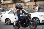 Harshvardhan Kapoor with Taapsee Pannu Riding Bike for the promotion of movie Bhavesh Joshi on 27th May 2018 (7)_5b0d199ac43cb.JPG