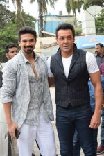 Bobby Deol, Saqib Saleem at the Song Launch Of Allah Duhai Hai From Film Race 3 on 1st June 2018 (55)_5b128f65bd953.jpg