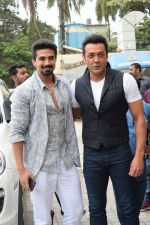 Bobby Deol, Saqib Saleem at the Song Launch Of Allah Duhai Hai From Film Race 3 on 1st June 2018 (56)_5b128f67561a6.jpg