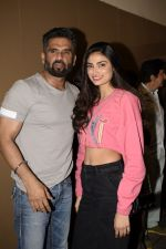 Sunil Shetty, Athiya Shetty at the Screening of Race 3 in pvr juhu on 14th June 2018