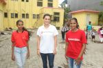 Dia Mirza, Ambassador of Save the Children at the Felicitation of Child Champions from the streets of Mumbai and an Aadhaar Camp to provide an identity to TheInvisibles in Gilder Lane Municipal School on 4th July 2018