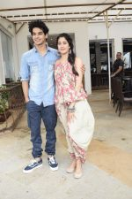 Janhvi Kapoor, Ishaan Khattar promote for Dhadak at media interactions in Sun n Sand,juhu on 12th July 2018