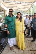 Kajol, Ajay Devgan at the Trailer launch of film Helicopter Eela in pvr juhu on 5th Aug 2018 (6)_5b67d4de5f665.JPG