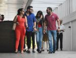 Kajol , Ajay Devgan with daughter Nysa spotted at Hakkasan bandra on 7th Aug 2018