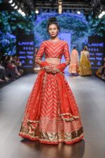 Model walk the ramp for Jayanti Reddy at Lakme Fashion Week on 26th Aug 2018