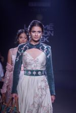 Model walk the ramp for 6 degree studio Show at lakme fashion week on 27th Aug 2018