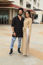 Shahid Kapoor, Shraddha Kapoor at the promotion of film Batti Gul Meter Chalu in Sun n Sand juhu on 28th Aug 2018
