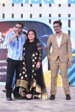 Salman Khan, Bharti Singh and Harsh Limbachiyaaa at the launch of COLORS Bigg Boss in Goa on 5th Sept 2018