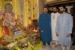Neil Nitin Mukesh, Nitin Mukesh, Naman Nitin Mukesh celebrates Ganesh chaturthi & muhutat of his brother_s directorial debut at his home in mumbai on 13th Sept 2018 (19)_5b9b572478801.JPG