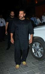 Salman Khan at Ganpati celebrations in Arpita Khan's home in khar on 13th Sept 2018