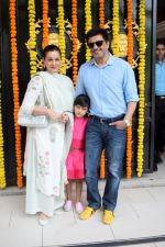 Neelam Kothari, Sameer Soni at Ekta Kapoor's house for Ganpati celebration on 16th Sept 2018