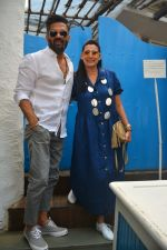 Sunil Shetty, Mana Shetty at Neha Dhupia's Baby Shower in Olive, Bandra on 30th Sept 2018
