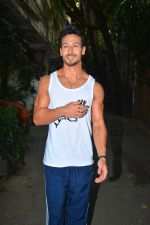 Tiger Shroff spotted at Krome studio in bandra on 1st Oct 2018