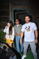 Aftab Shivdasani with wife Nin Dusjan & Gulshan Grover Spotted at a restaurant in bandra on 2nd Oct 2018
