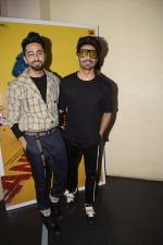 Aparshakti Khurana, Ayushmann Khurrana at the Screening of film AndhaDhun at zee preview theater in andheri on 1st Oct 2018