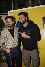 Vicky Kaushal, Ayushmann Khurrana at the Screening of film AndhaDhun at Sunny sound juhu on 1st Oct 2018