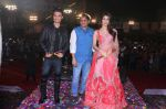 Aayush Sharma, Ameet Satam and Warina Hussain at Ameet Satam_s Adarsh Navratri Utsav Day 1 at JVPD Grounds, Juhu_5bbf0edc2f80a.jpg