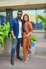 Parineeti Chopra , Arjun Kapoor during the media interactions for film Namaste England at Novotel juhu on 11th Oct 2018