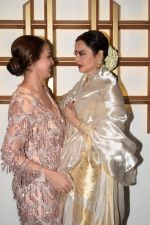 Rekha, Esha Deol at Hema Malini's Birthday celebration in Mumbai on 17th Oct 2018