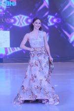 Elli Avram walk the ramp during the Exhibit Tech Fashion tour in jw marriott juhu on 18th Oct 2018