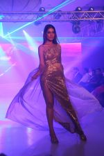 Model walk the ramp during the Exhibit Tech Fashion tour in jw marriott juhu on 18th Oct 2018