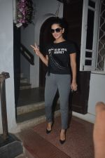 Sunny Leone spotted at Krome studio Bandra on 22nd Oct 2018