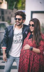 Neha Dhupia and Kartik Aaryan spotted before the recording of her podcast - No Filter Neha - Season 3 in Khar on 10th Nov 2018