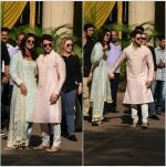 Priyanka  Chopra and Nick Jonas posing for media after finishing their wedding puja at her Versova House on 28th Nov 2018 (26)_5bff910615346.jpeg
