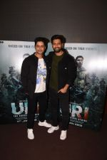 Vicky Kaushal With Mohit Raina Spotted For Trailer Preview Of Film URI on 3rd Dec 2018 (17)_5c077588143d1.JPG