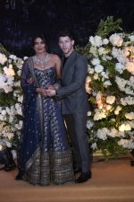 Priyanka Chopra and Nick Jonas at Wedding reception in Mumbai on 19th Dec 2018