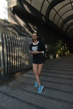 Sonal Chauhan spotted at Bandra Body Scluptor gym in khar on 2nd Jan 2019