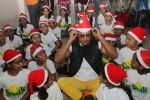 Vidyut Jamwal celebrates christmas with the kids of Smile foundation in andheri on 25th Dec 2018