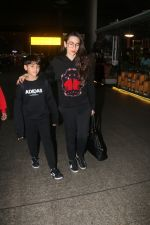 Karisma Kapoor with family spotted at airport in mumbai on 2nd Jan 2019