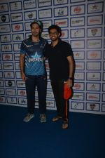 Dino Morea, Aditya Thackeray during The Inaugural Match Of Super Star League At Bandra on 7th Jan 2019
