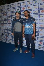 Dino Morea, Arjun Rampal during The Inaugural Match Of Super Star League At Bandra on 7th Jan 2019