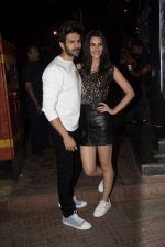 Kriti Sanon, Kartik Aaryan at the Wrapup party of film Luka Chuppi at The Street in bandra on 28th Jan 2019