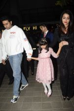 Abhishek Bachchan, Aishwarya Rai Bachchan, Aaradhya Bachchan spotted at bkc post dinner on Abhishek_s birthday on 5th Feb 2019 (50)_5c5a9fa73ae18.JPG