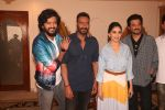 Madhuri Dixit, Anil Kapoor, Riteish Deshmukh, Ajay Devgan at the promotion of film Total Dhamaal in Sun n Sand juhu on 13th Feb 2019